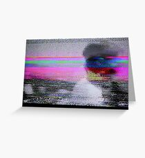 Glitch art - analogue video degeneration Greeting Card