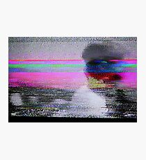 Glitch art - analogue video degeneration Photographic Print