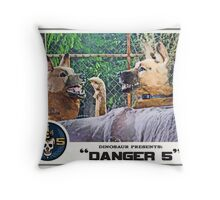 "Danger 5 Lobby Card #11 - ""Hast du feuer mein liebe?"" Throw Pillow"