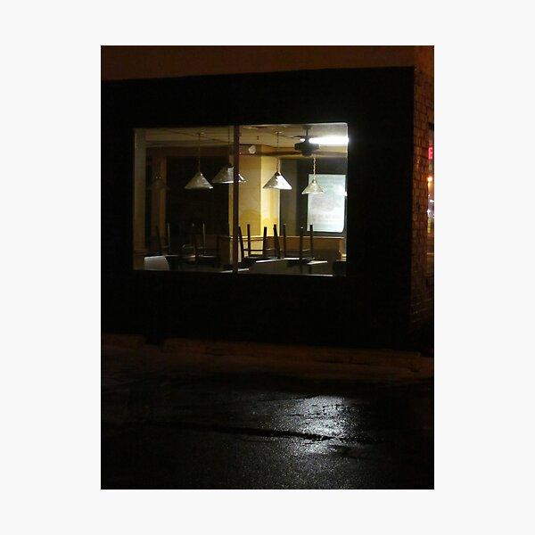Outside The Edward Hopper Cafe Photographic Print