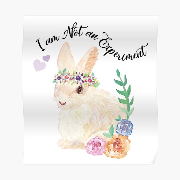 I am Not an Experiment | Bunny Animal Testing Poster