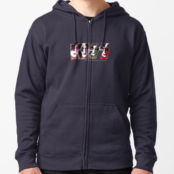 Kiss Band Logo - All Members Faces Zipped Hoodie