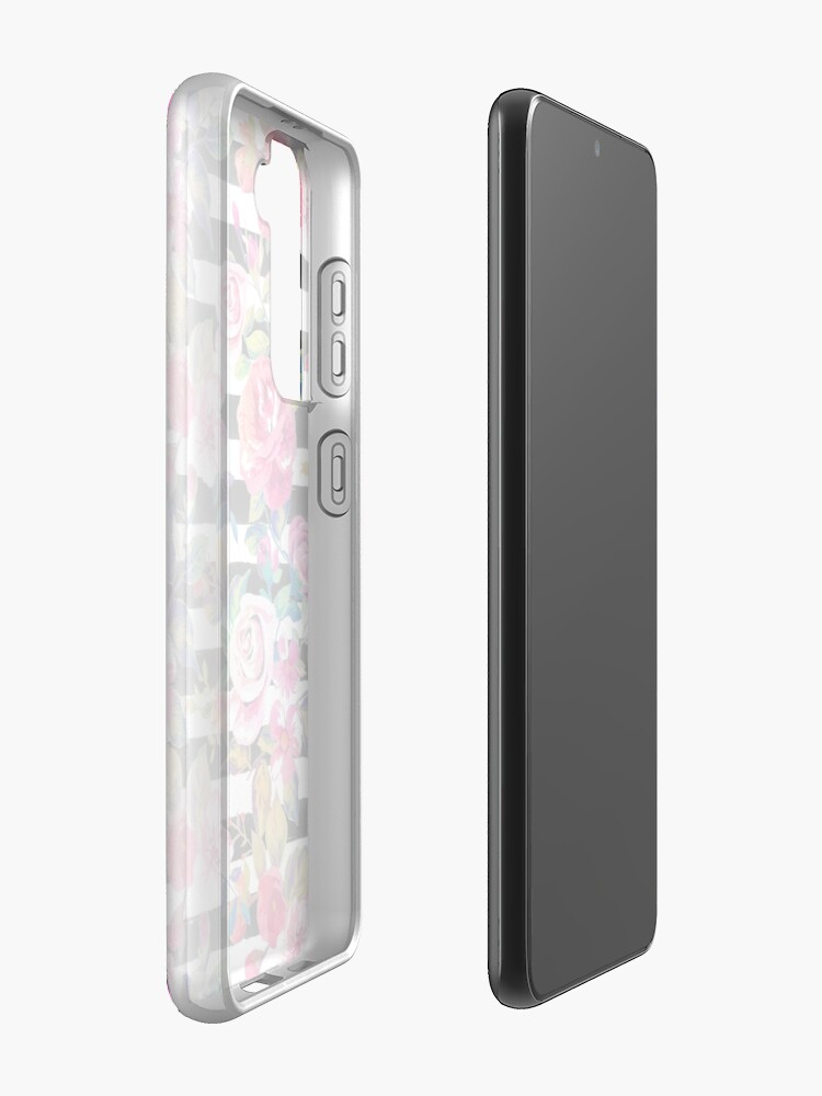 Alternate view of Cute spring floral and stripes watercolor pattern Case & Skin for Samsung Galaxy