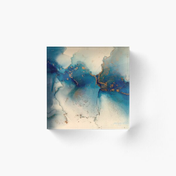 Blues Abstract Acrylic Block