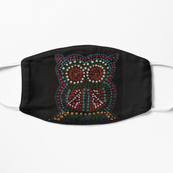 Dotted Owl Geometric Design Flat Mask