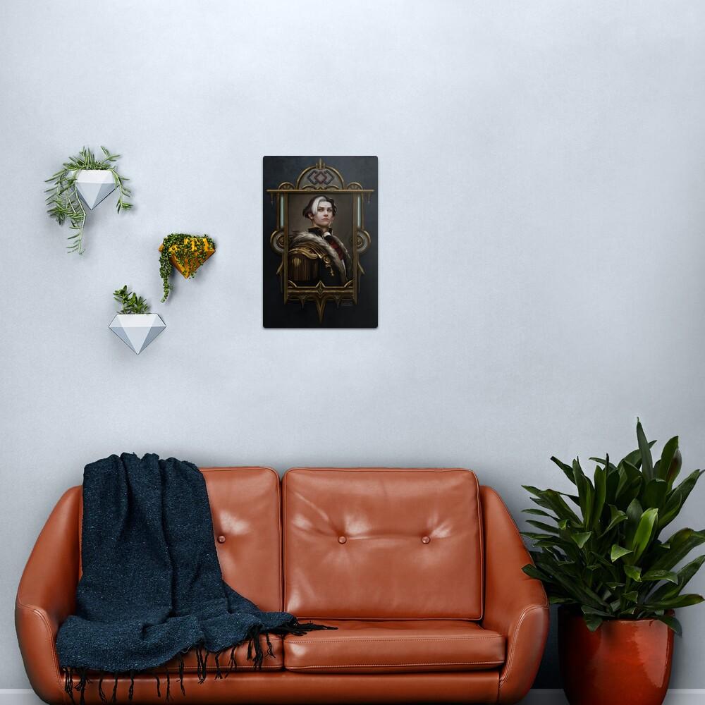 Solus zos Galvus framed portrait Metal Print