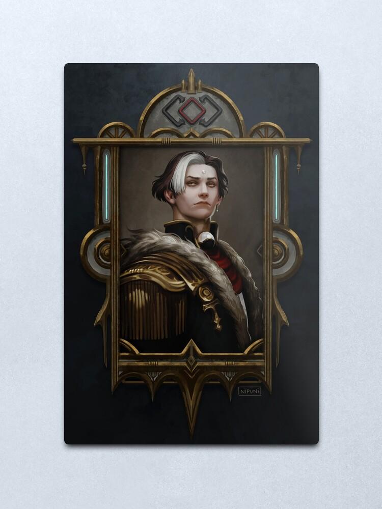 Alternate view of Solus zos Galvus framed portrait Metal Print