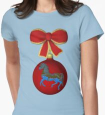 Carousel Horse Ornament Holiday  Womens Fitted T-Shirt