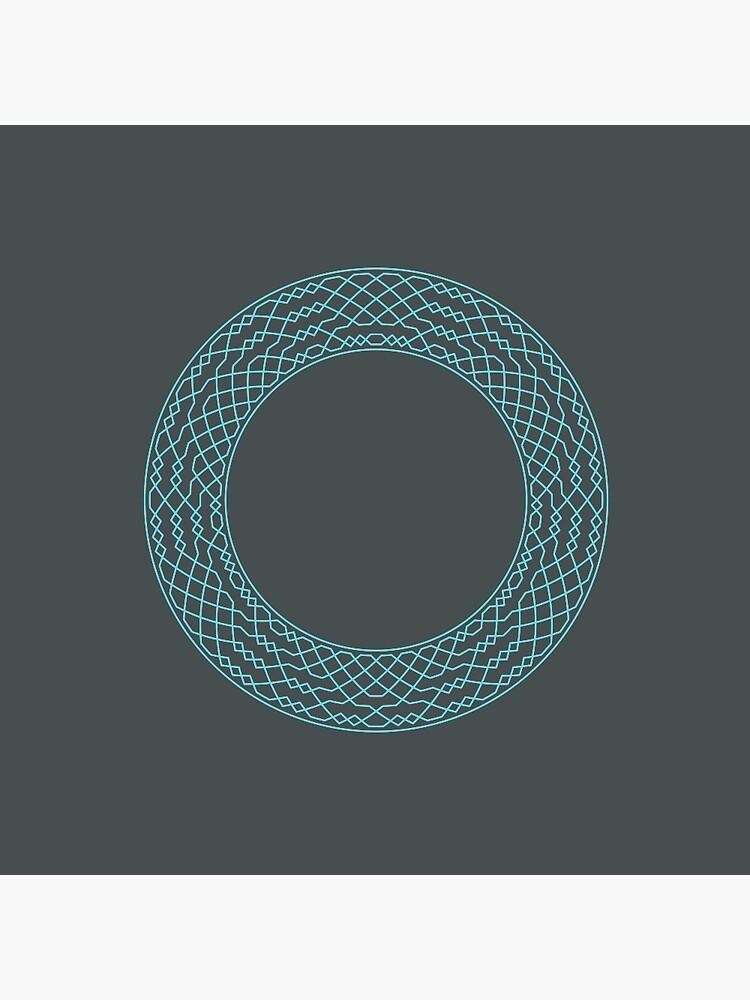 London Surprise Major Method Wreath — Pin (Blue) by RingingRoom