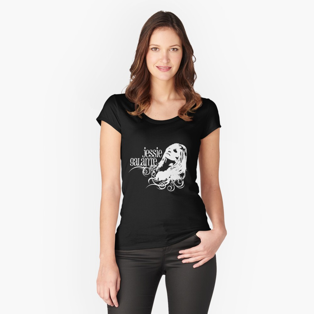 Jessie Galante Merchandise with Face Design Fitted Scoop T-Shirt
