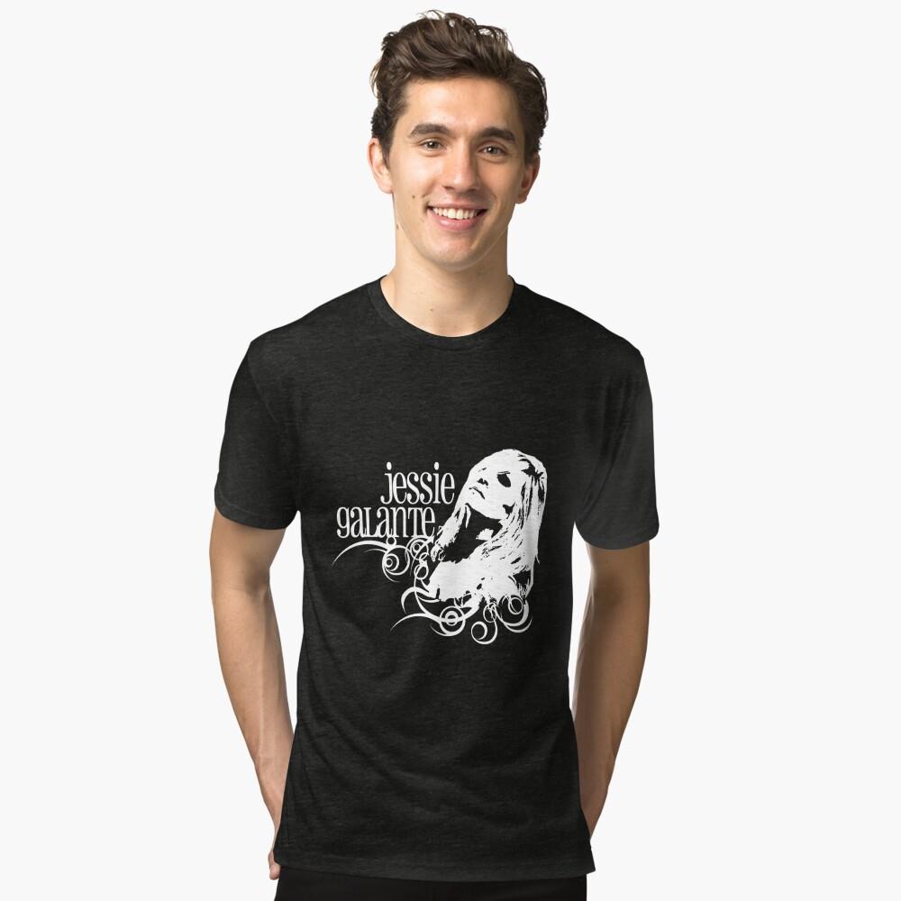 Jessie Galante Merchandise with Face Design Tri-blend T-Shirt