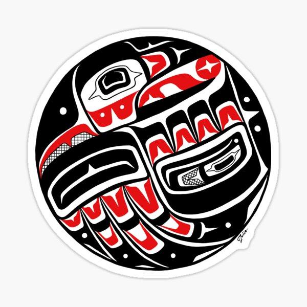 Raven Steals The Sun - Tlingit style, Native American Sticker