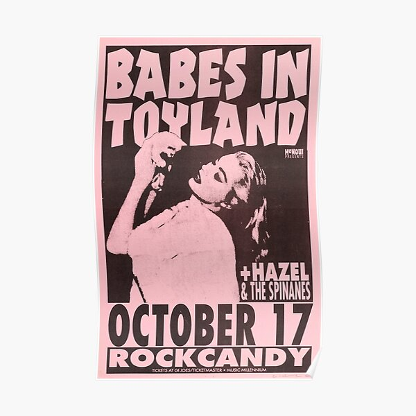 Babes In Toyland gig poster Poster