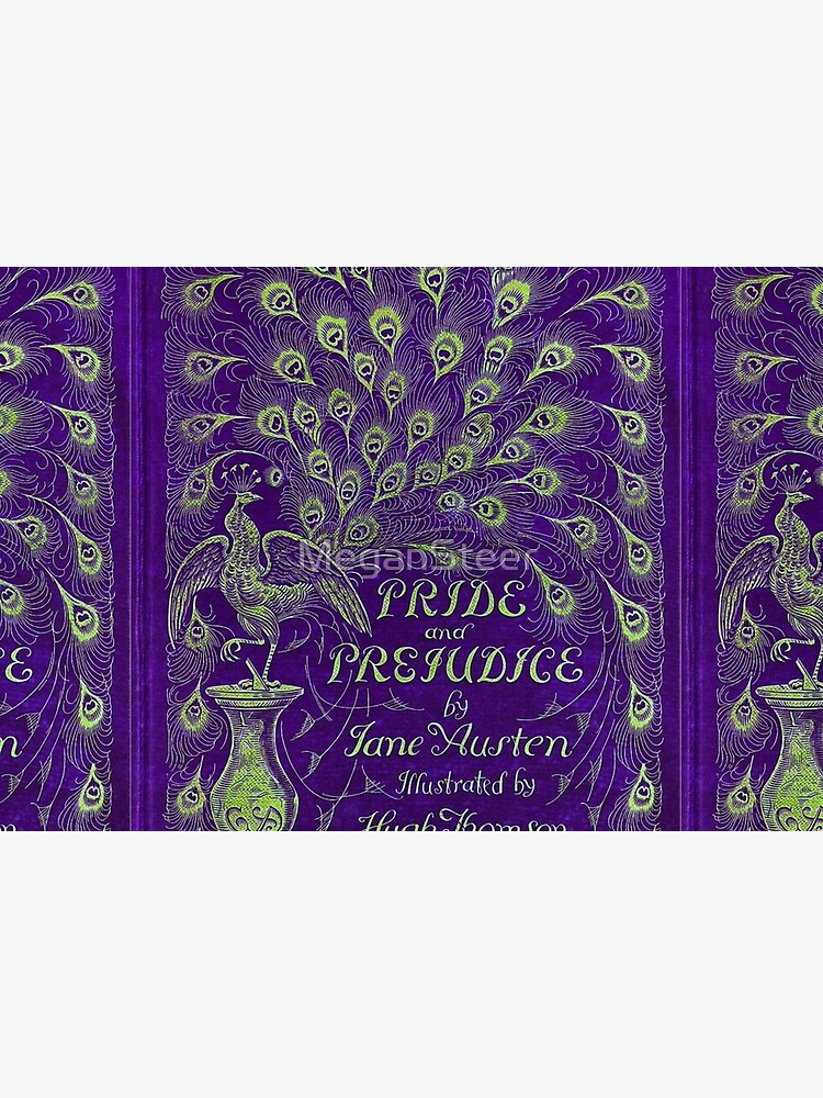 Pride and Prejudice, 1894 Peacock Cover in Purple by MeganSteer