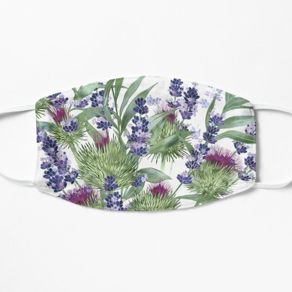 Thistles & Lavender Flat Mask