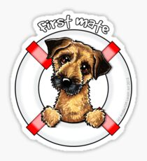 Border Terrier :: First Mate Sticker