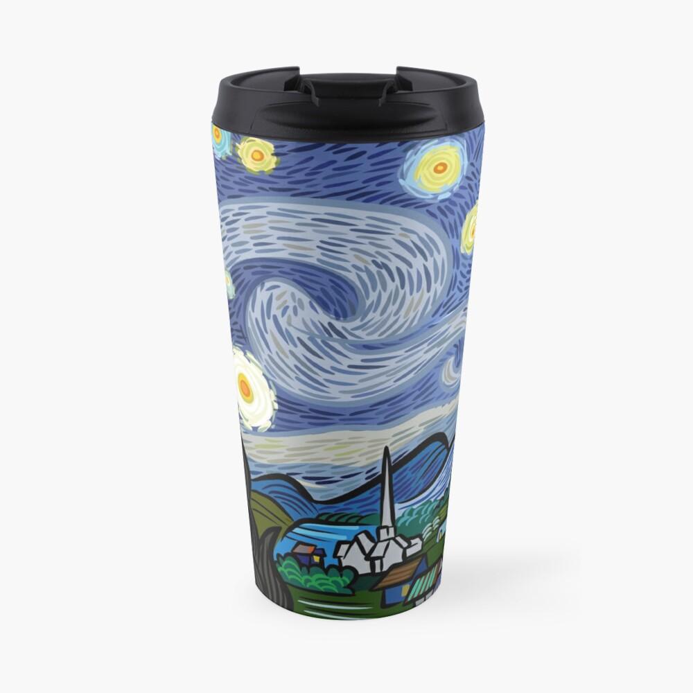 Starry Caricature Travel Mug