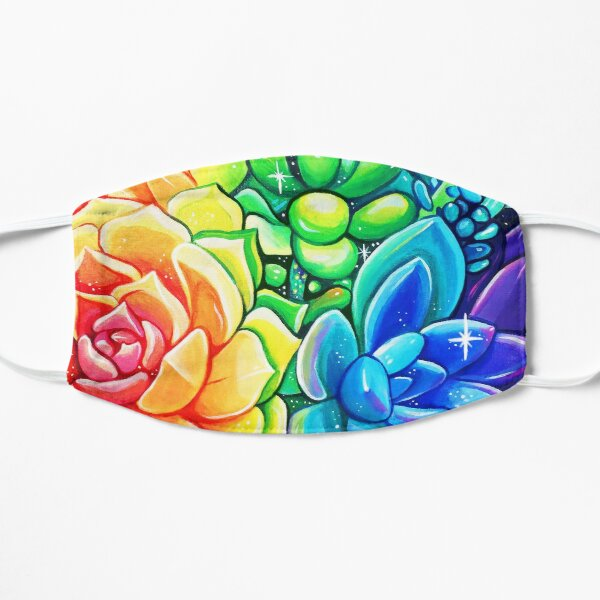 Rainbow Succulents - Acrylic Painting Mask