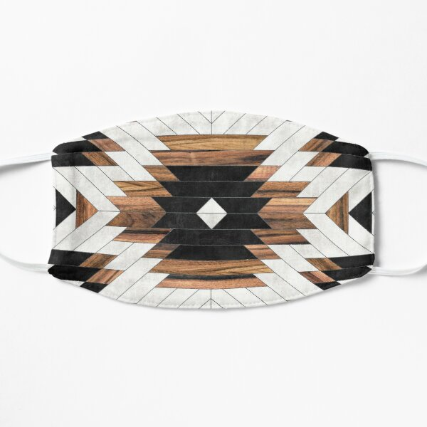 Urban Tribal Pattern No.5 - Aztec - Concrete and Wood Mask