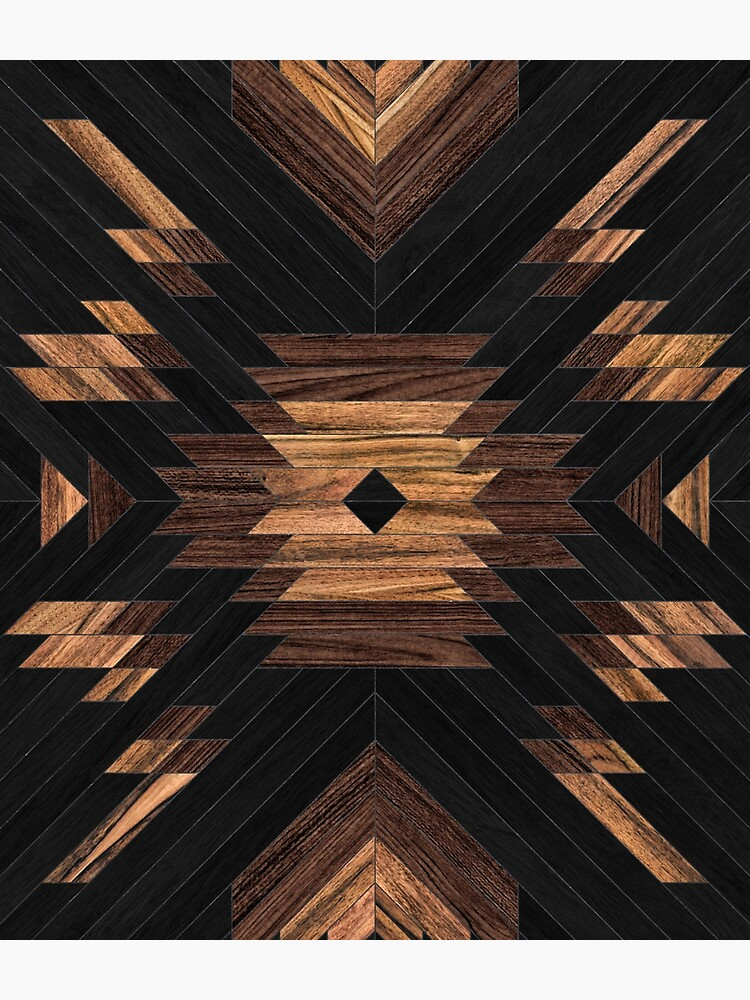 Urban Tribal Pattern No.7 - Aztec - Wood by ZoltanRatko