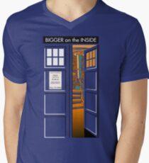 Bigger on the inside Men's V-Neck T-Shirt
