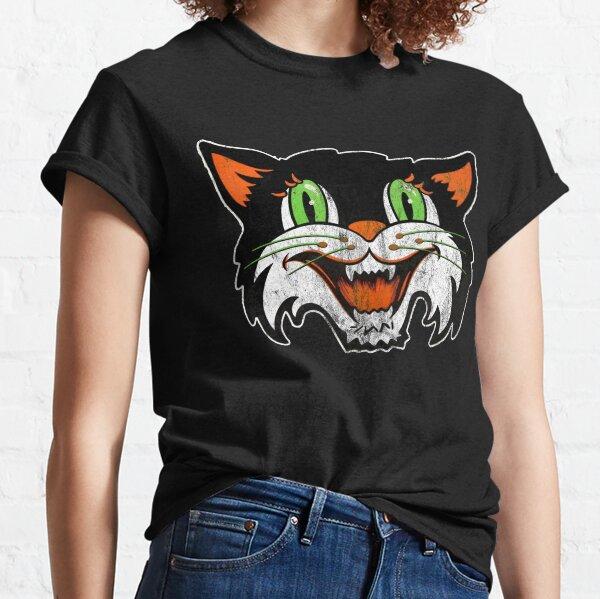 Vintage Halloween Black Cat Cut Out Classic T-Shirt