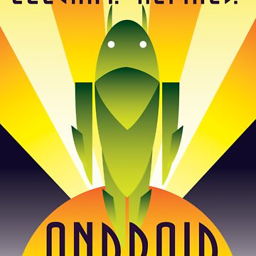 Art Deco Android by Justonescarf