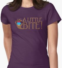 A LITTLE BITE! CAFE Shifter wolf hand and cupcake Womens Fitted T-Shirt