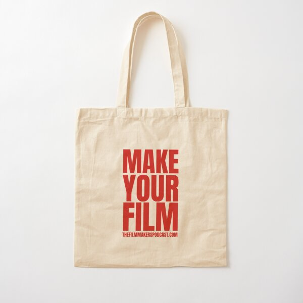 Make Your Film RED Cotton Tote Bag