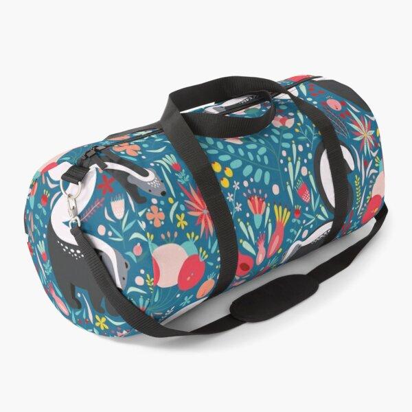 Skunk Floral Pattern Duffle Bag