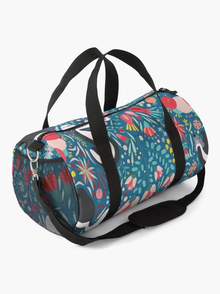 Alternate view of Skunk Floral Pattern Duffle Bag