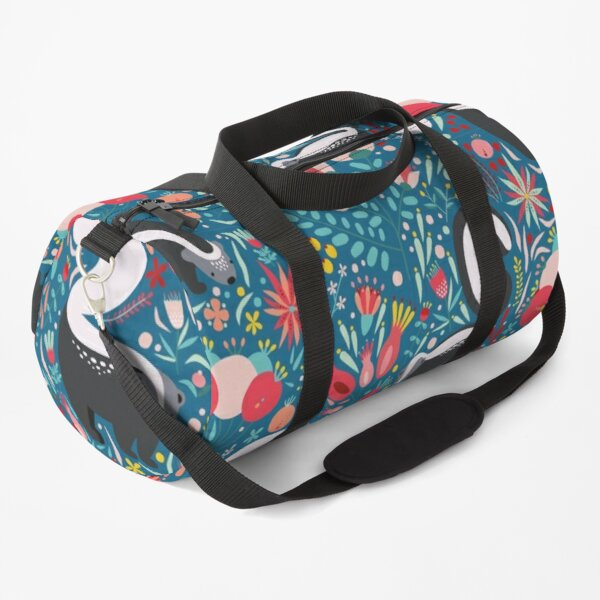 Skunk Floral Pattern Duffle Bag