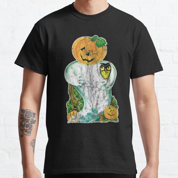 Vintage Halloween Ghost Pumpkin Face Cut Out Classic T-Shirt