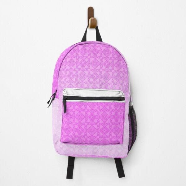 Pink gradient pattern Backpack