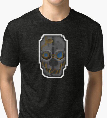 Pixel Corvo Attano's Mask - Dishonored Tri-blend T-Shirt