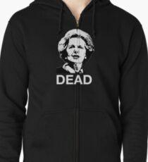 Dead (black or dark fabric) Zipped Hoodie
