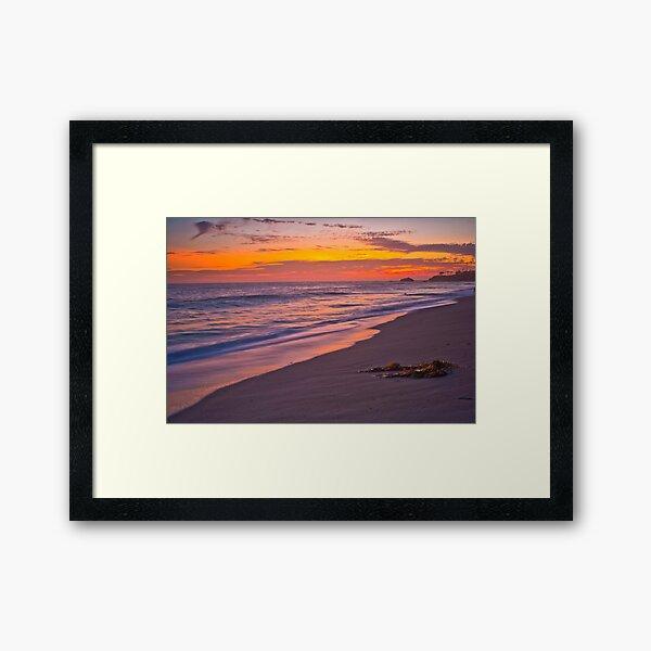 Soft Colored Sunset Framed Art Print