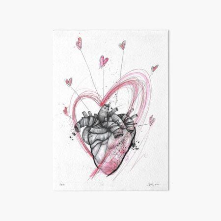Joy (Hearts drawing series) Art Board Print