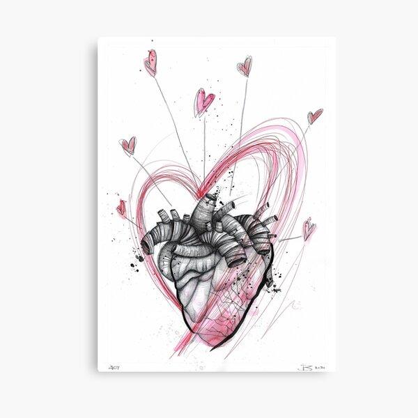 Joy (Hearts drawing series) Canvas Print