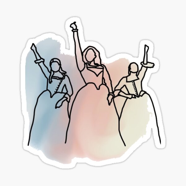 Schuyler Sisters Design Sticker
