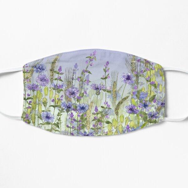 Blue Flower Field - Cornflowers, Catmint & Wheat Ears Flat Mask