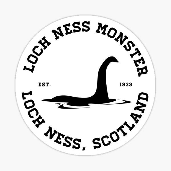 Loch Ness Monster Varsity Logo Black Ver.  Sticker