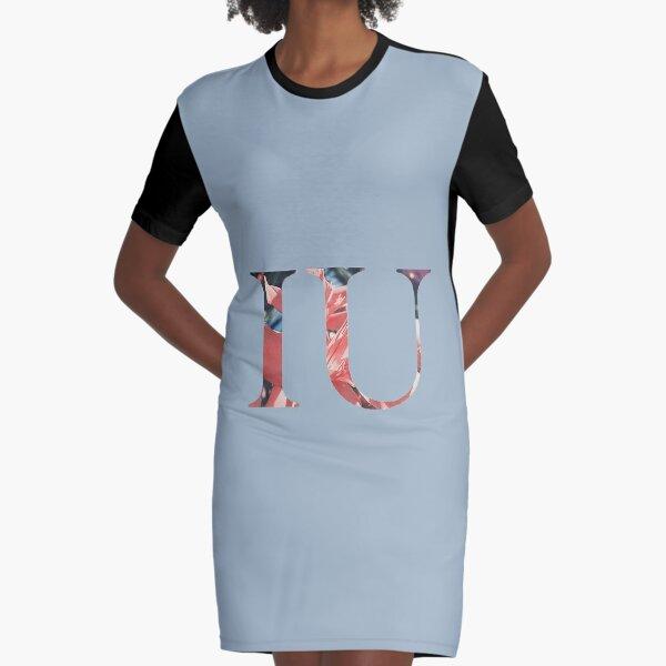 IU Floral Logo Graphic T-Shirt Dress