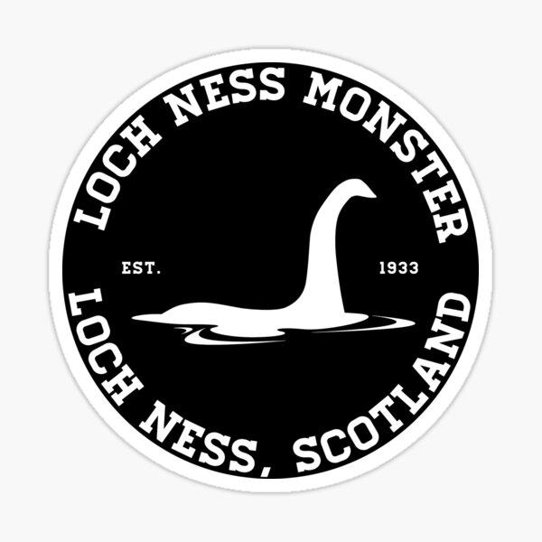 Loch Ness Monster Varsity Logo White Ver.  Sticker