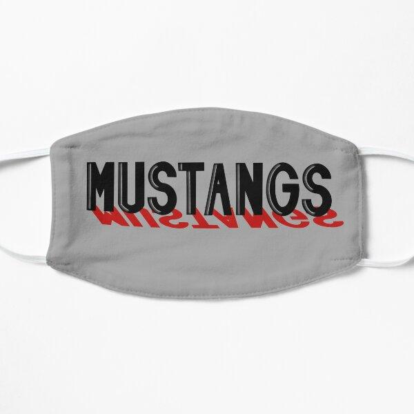 Mustangs Block on Gray Mask