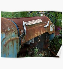 The old tractor amongst the weeds......! Poster