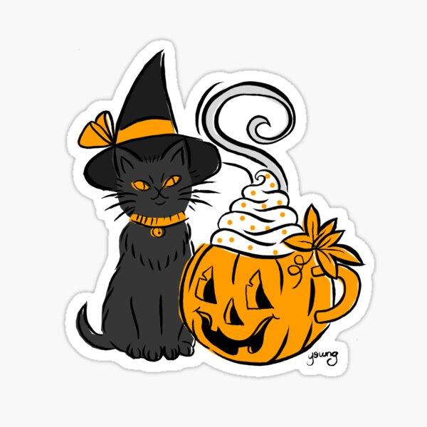 Pumpkin Spice Kitty Sticker