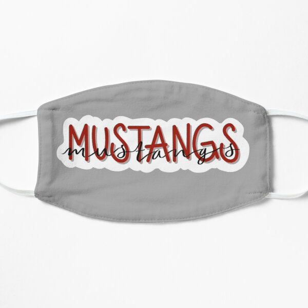 Mustangs on Gray Mask