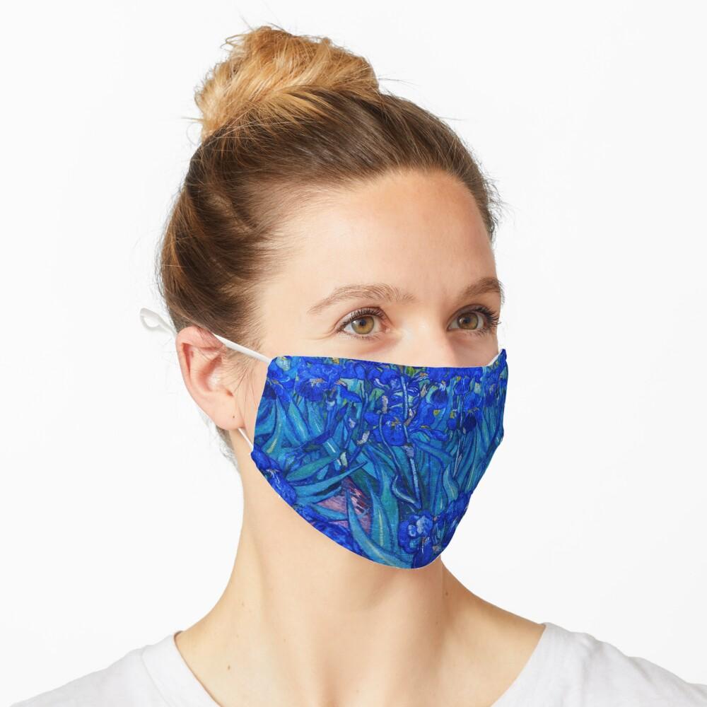 Van Gogh Irises in Indigo Mask