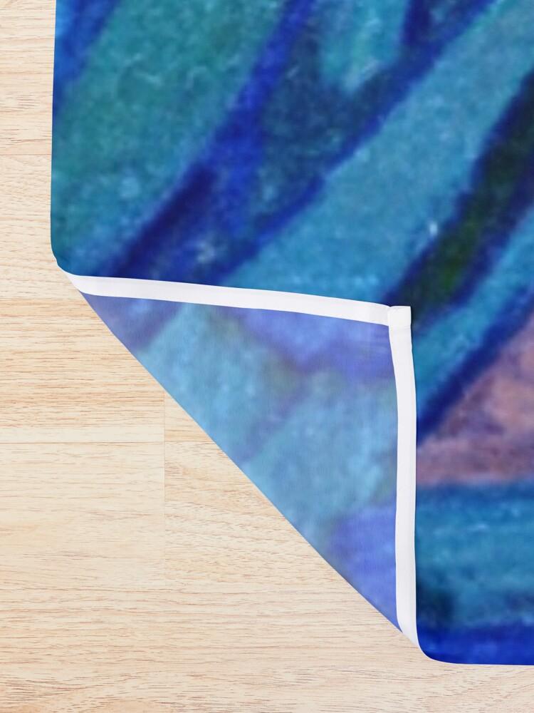 Alternate view of Van Gogh Irises in Indigo Shower Curtain